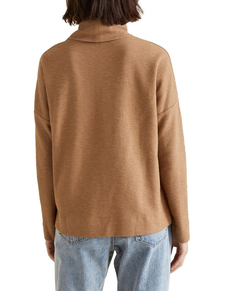 Roll Neck Textured Top image 3