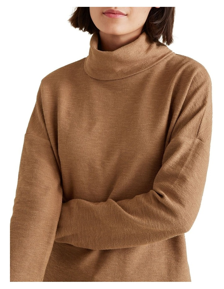 Roll Neck Textured Top image 4