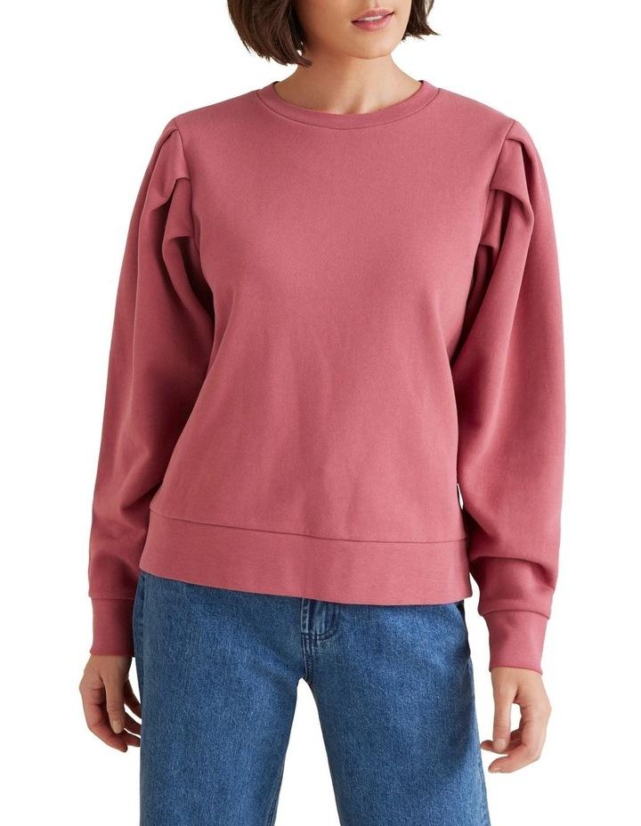 Tuck Detail Blouson Sweater image 1