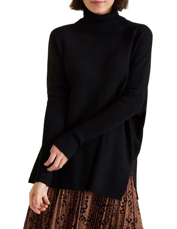High Neck Boxy Sweater image 1
