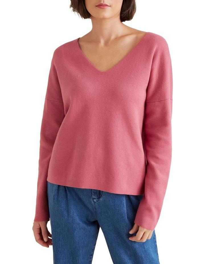V Neck Essential Sweater image 1