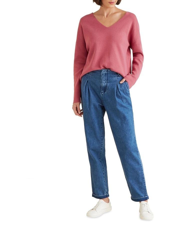 V Neck Essential Sweater image 2