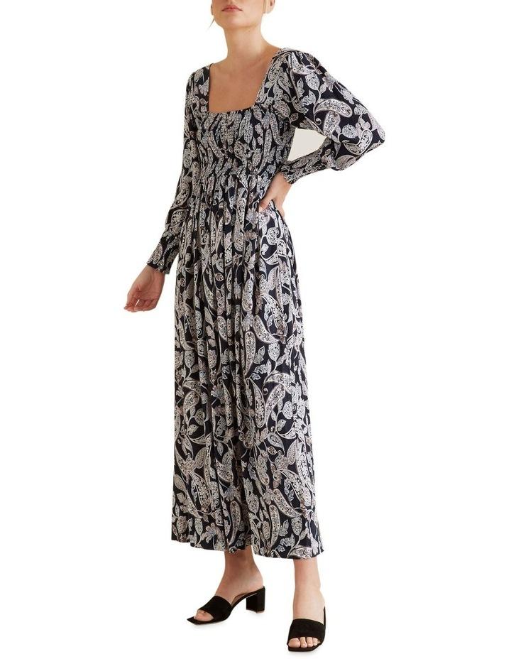 Shirred Paisley Dress image 1