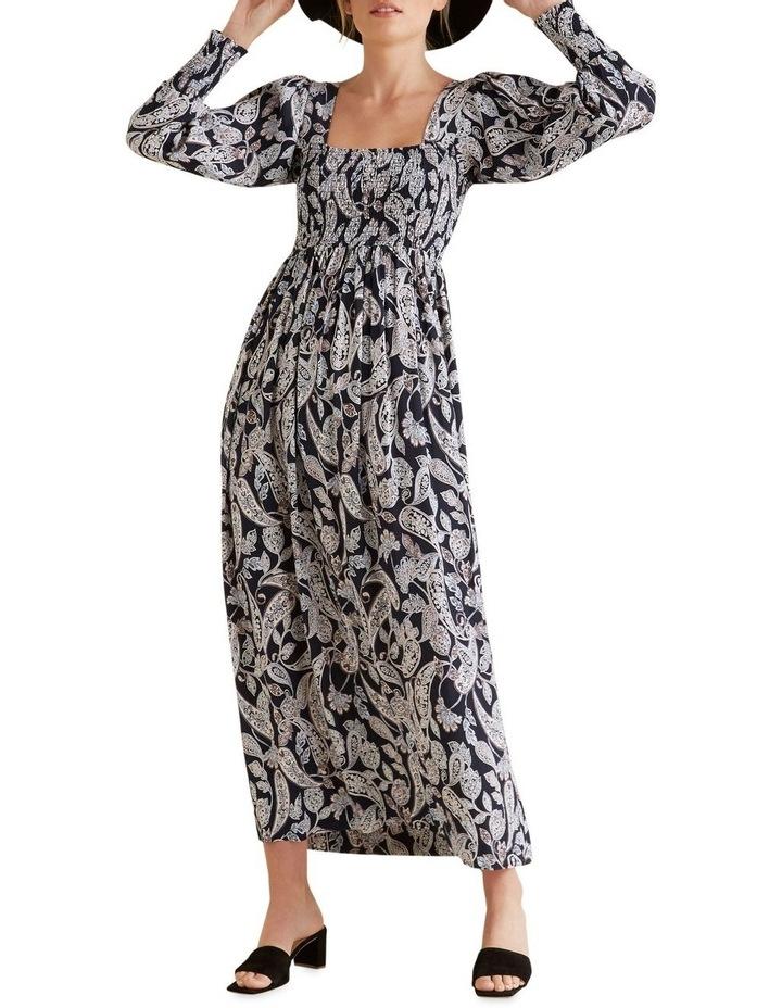 Shirred Paisley Dress image 2