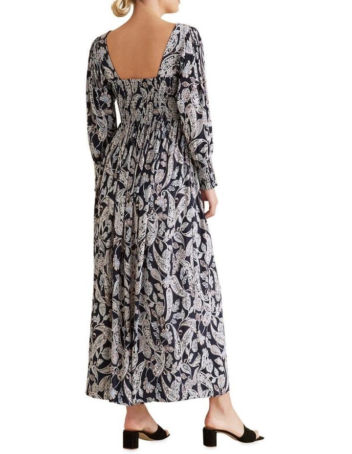Shirred Paisley Dress image 3
