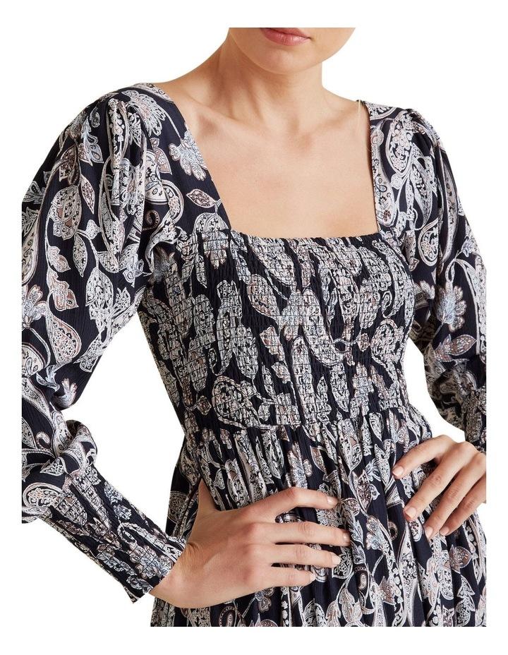 Shirred Paisley Dress image 4