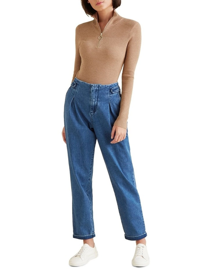 Flat Front Tab Jean image 2