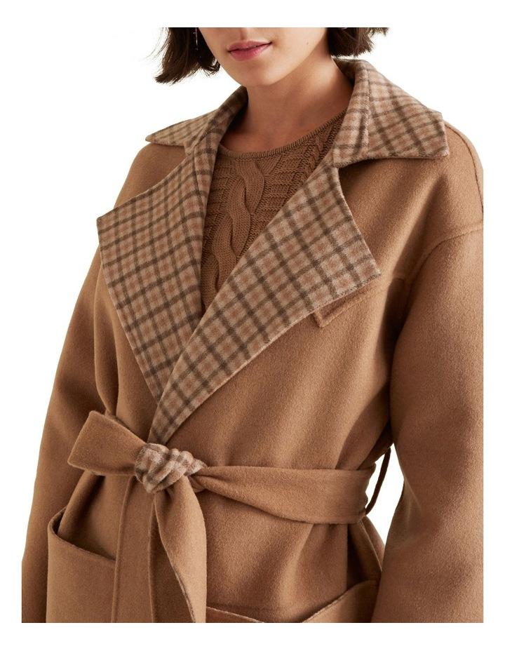 Reversible Tie Up Coat image 4
