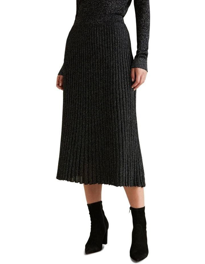 Metallic Knit Skirt image 1