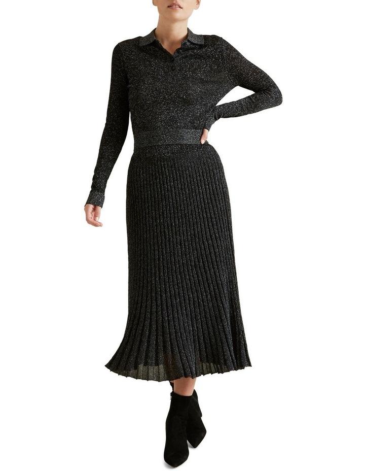 Metallic Knit Skirt image 2