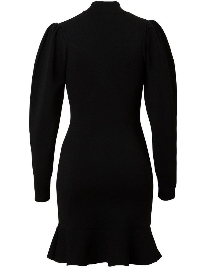 Blouson Sleeve Crepe Dress image 2