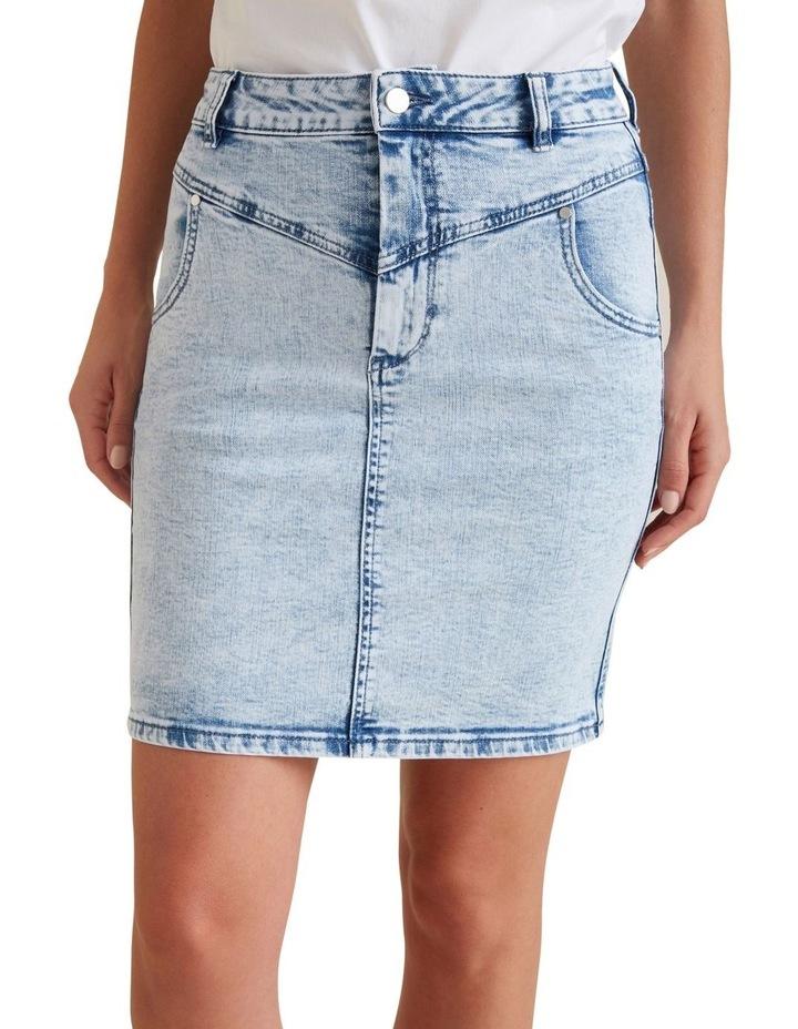 Stitch Denim Skirt image 1