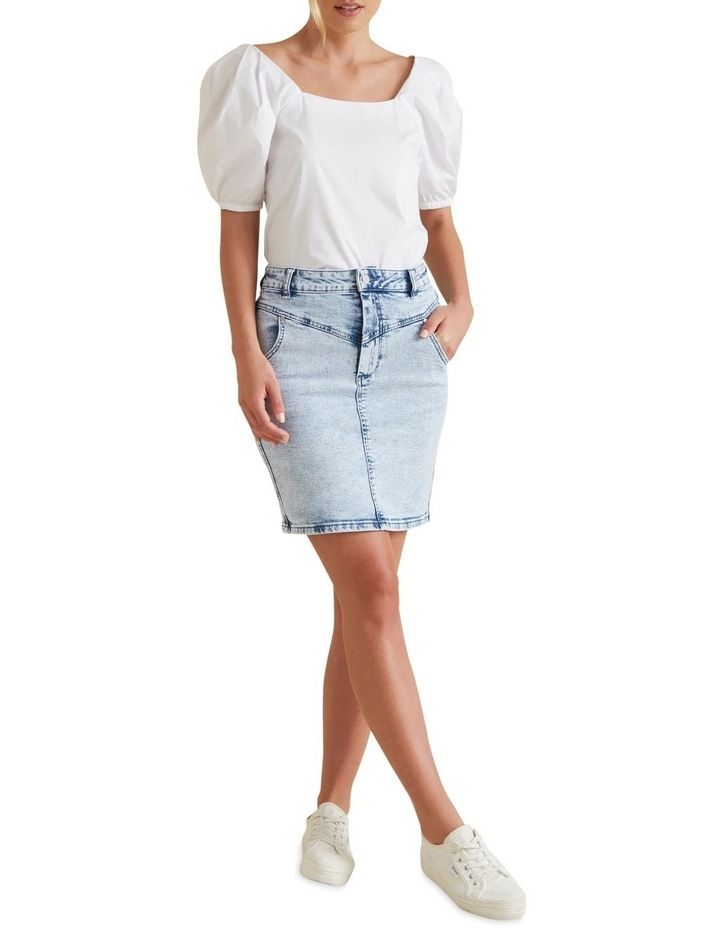 Stitch Denim Skirt image 2