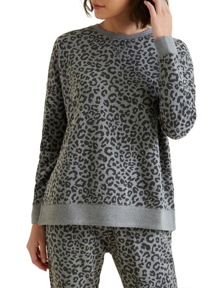 Animal Oversized Hi Lo Sweater image 1