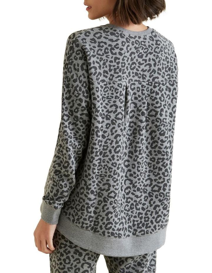 Animal Oversized Hi Lo Sweater image 3