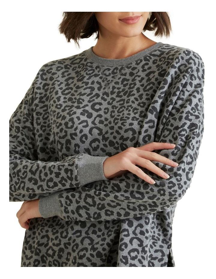 Animal Oversized Hi Lo Sweater image 4