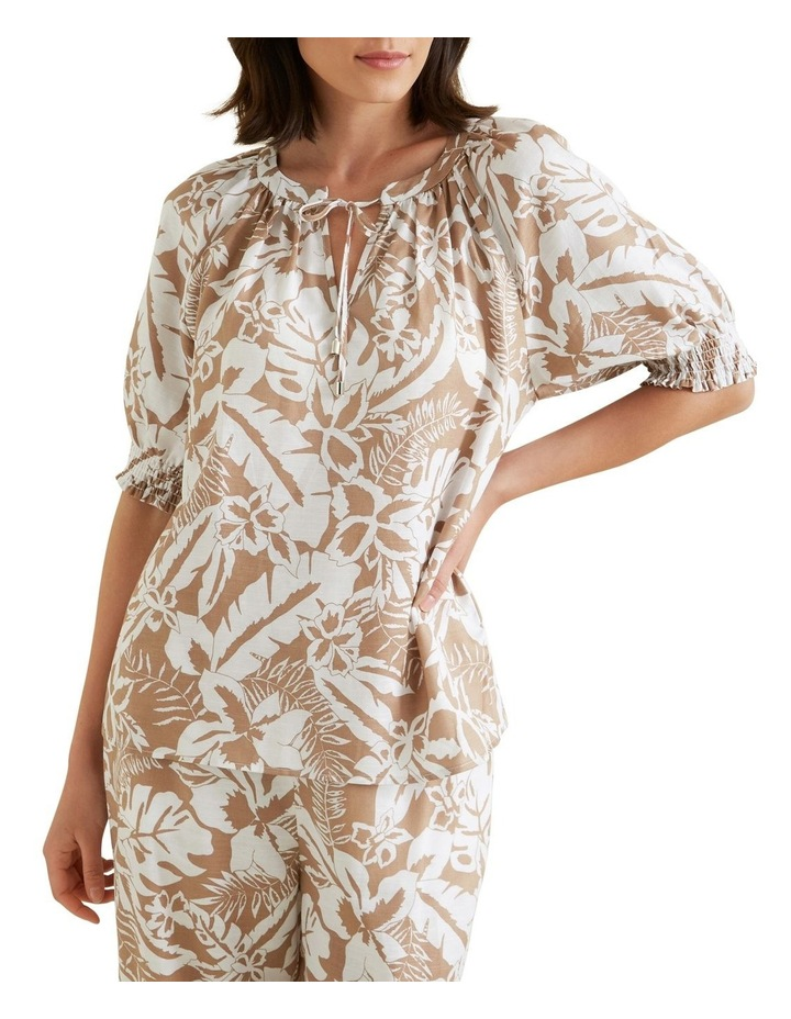 Palm Print Blouse image 1