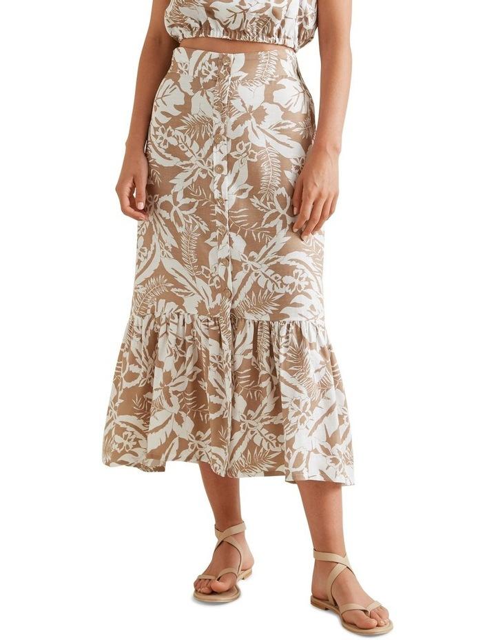 Palm Print Button Skirt image 1