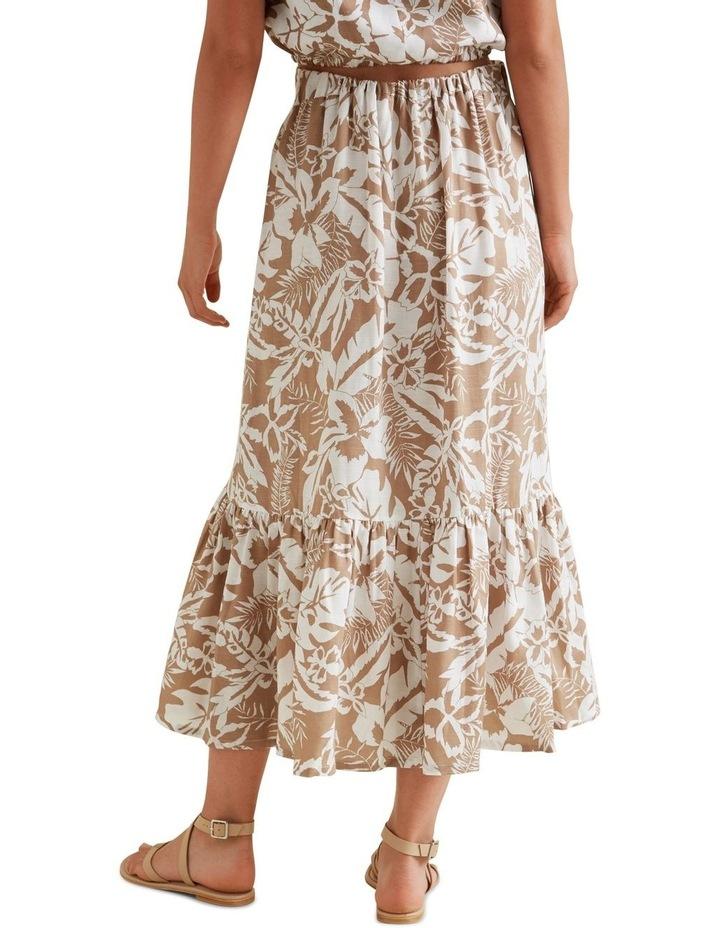 Palm Print Button Skirt image 3