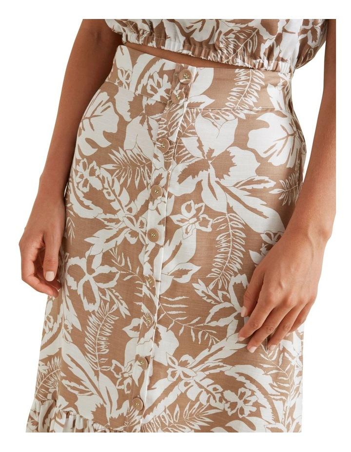 Palm Print Button Skirt image 4