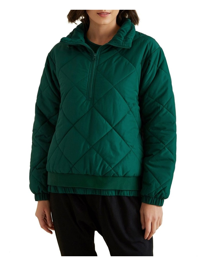 Quilted Zip Puffer image 1