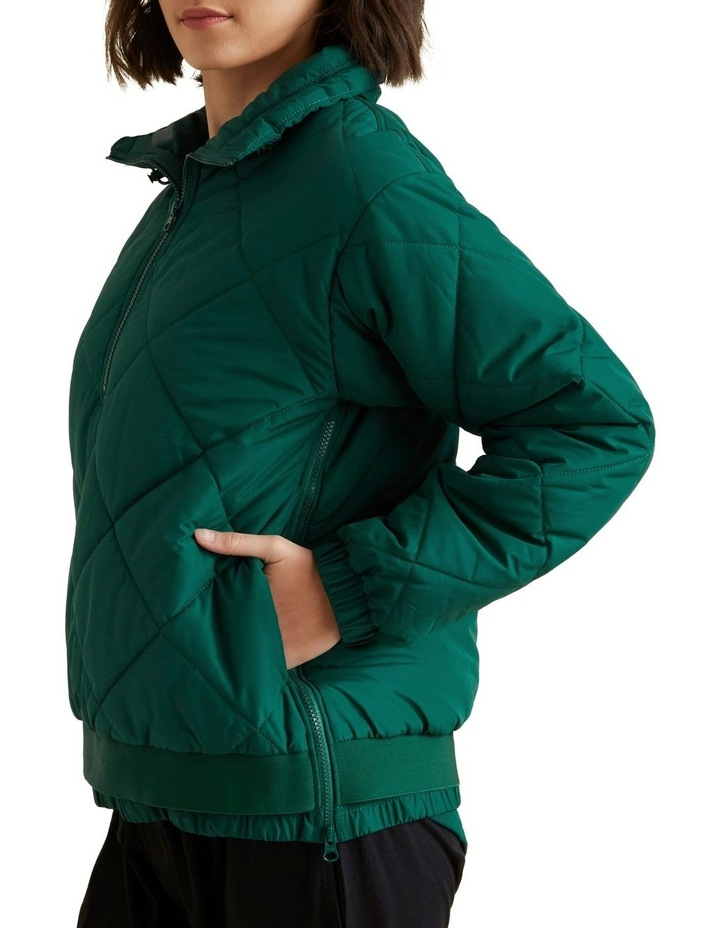 Quilted Zip Puffer image 4
