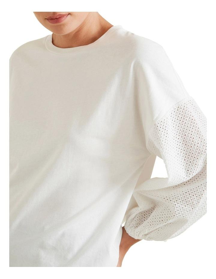 Broderie Sleeve Top image 4