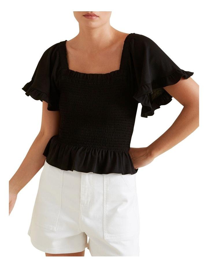 Shirred Short Sleeve Top image 1