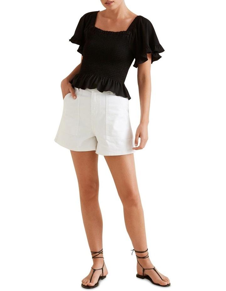 Shirred Short Sleeve Top image 2