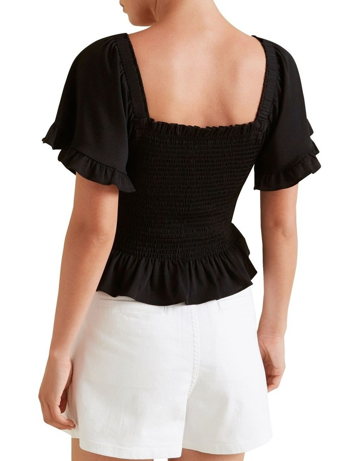 Shirred Short Sleeve Top image 3