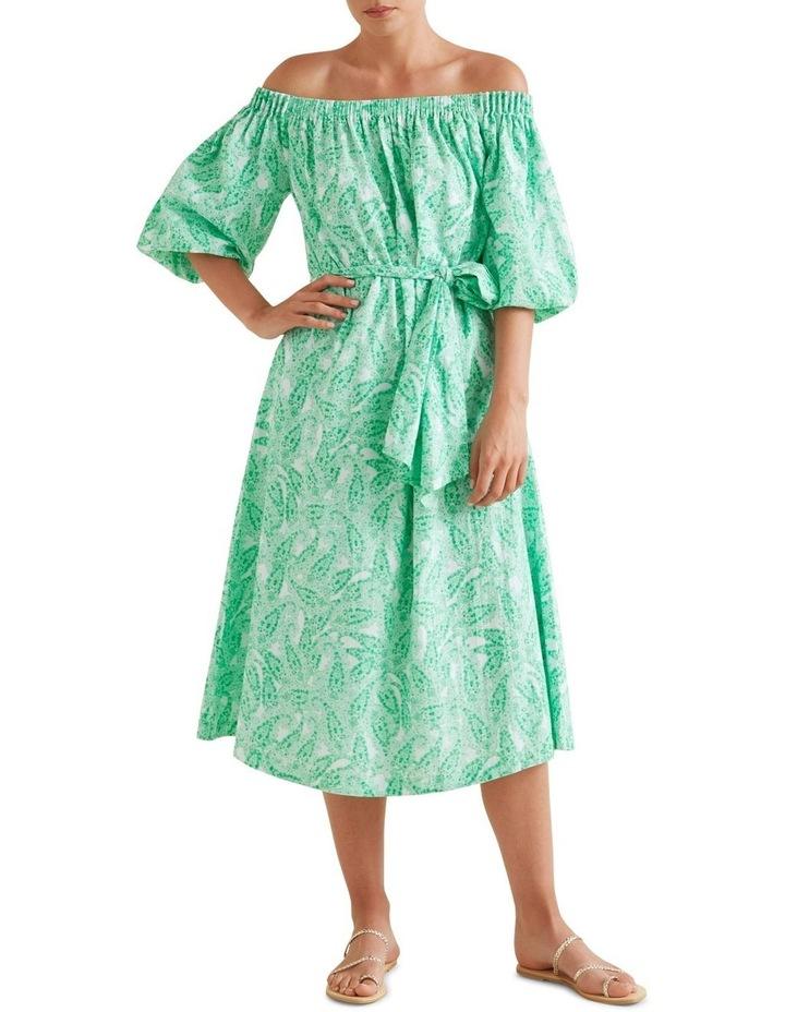 Paisley Off Shoulder Dress image 1