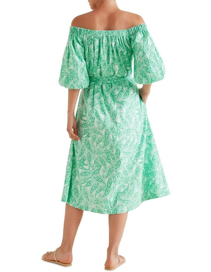 Paisley Off Shoulder Dress image 3