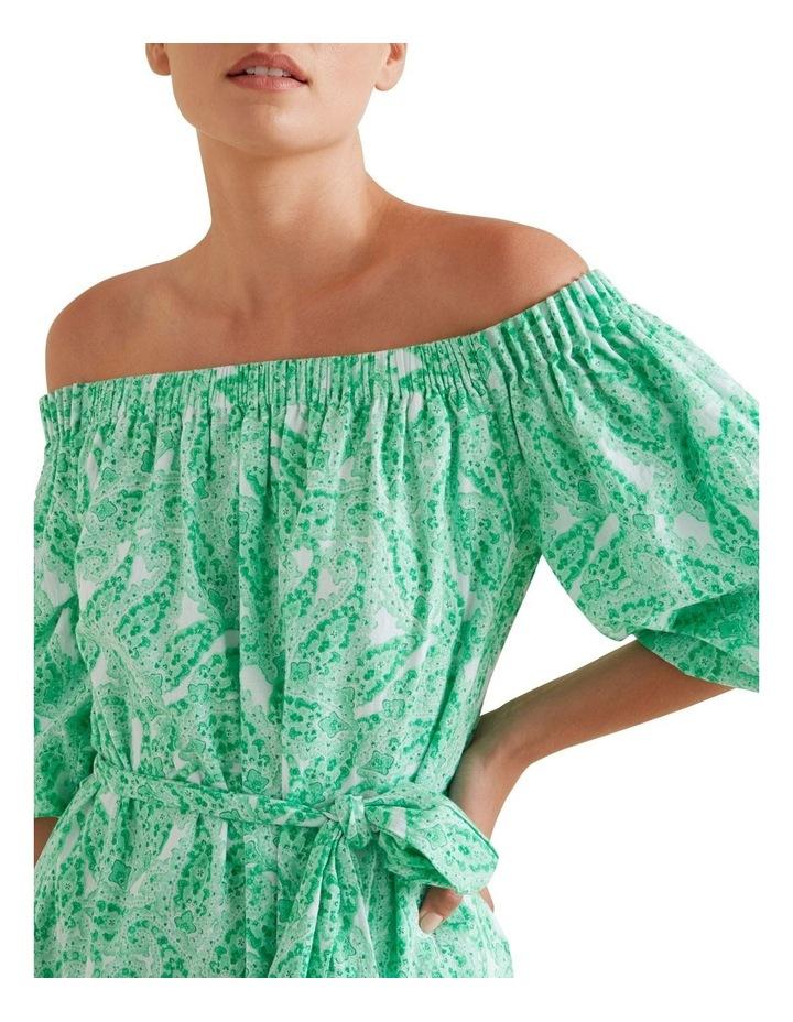 Paisley Off Shoulder Dress image 4