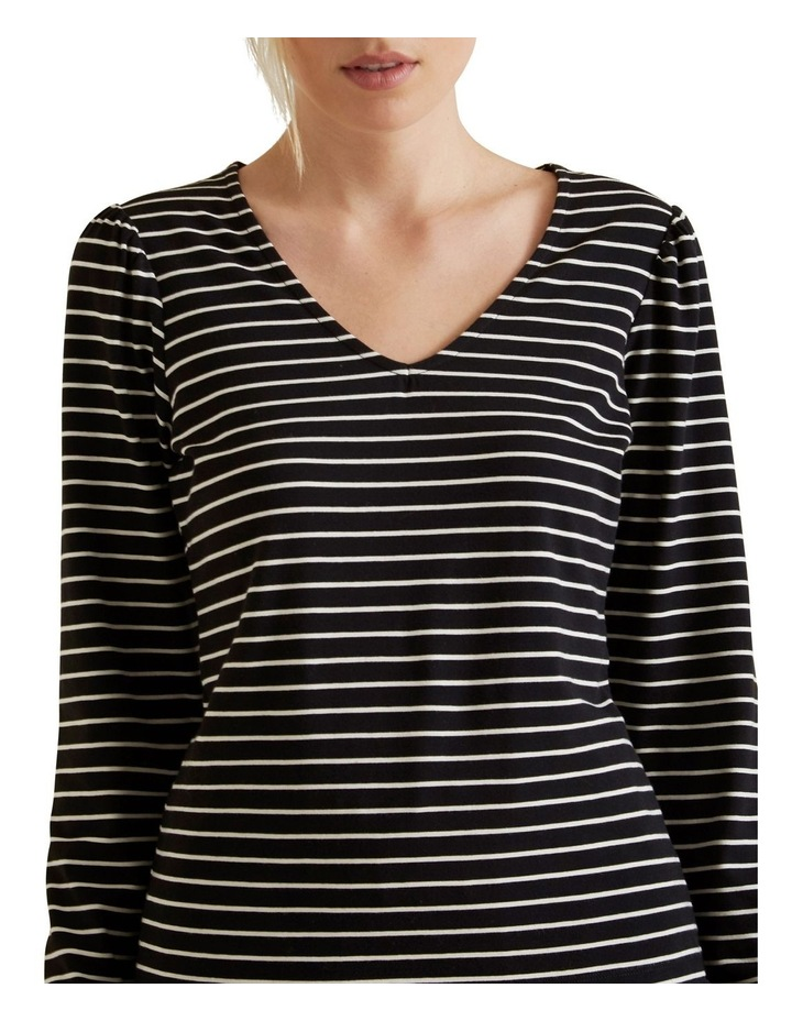 Stripe Puff Sleeve Top image 4