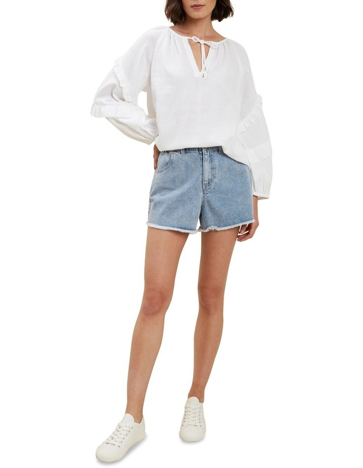 Elastic Waist Denim Short image 2