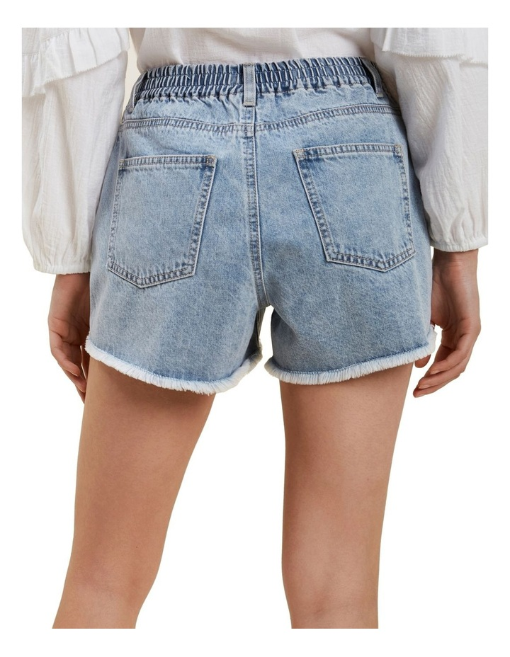 Elastic Waist Denim Short image 3