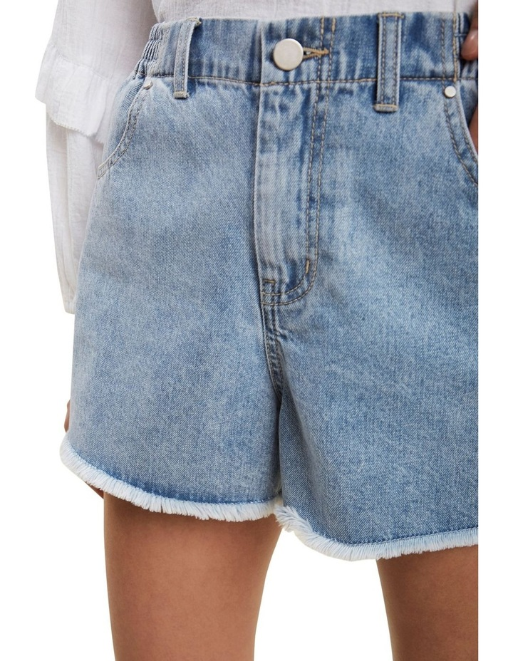 Elastic Waist Denim Short image 4