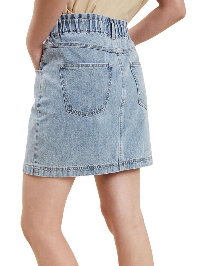 Paperbag Denim Skirt image 3