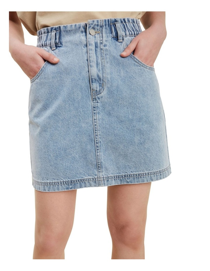 Paperbag Denim Skirt image 4