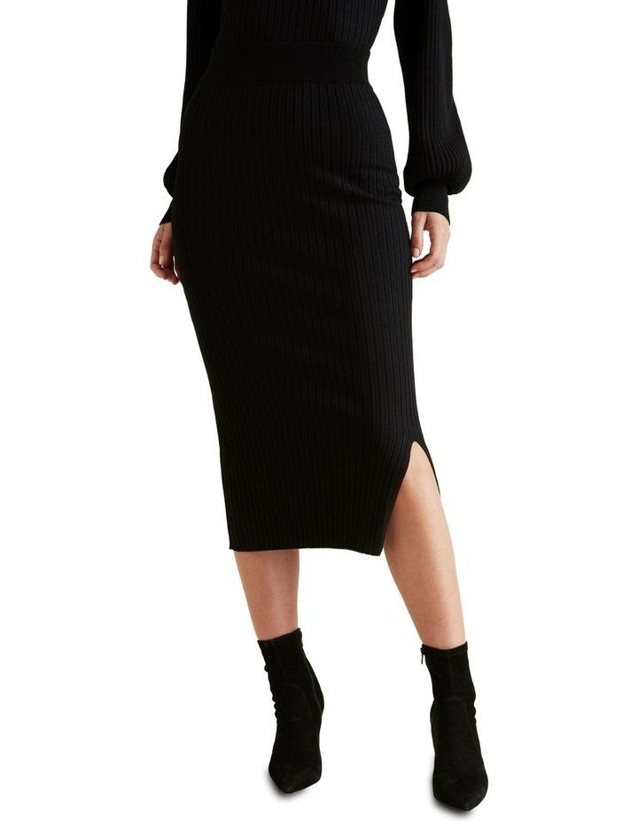 Ribbed Crepe Knit Skirt image 1