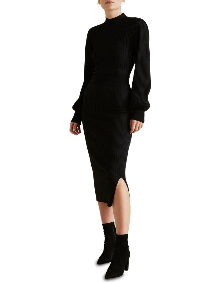 Ribbed Crepe Knit Skirt image 2
