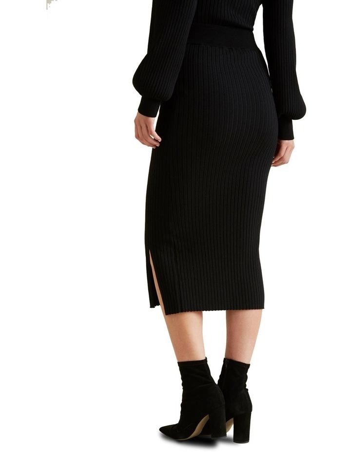 Ribbed Crepe Knit Skirt image 3