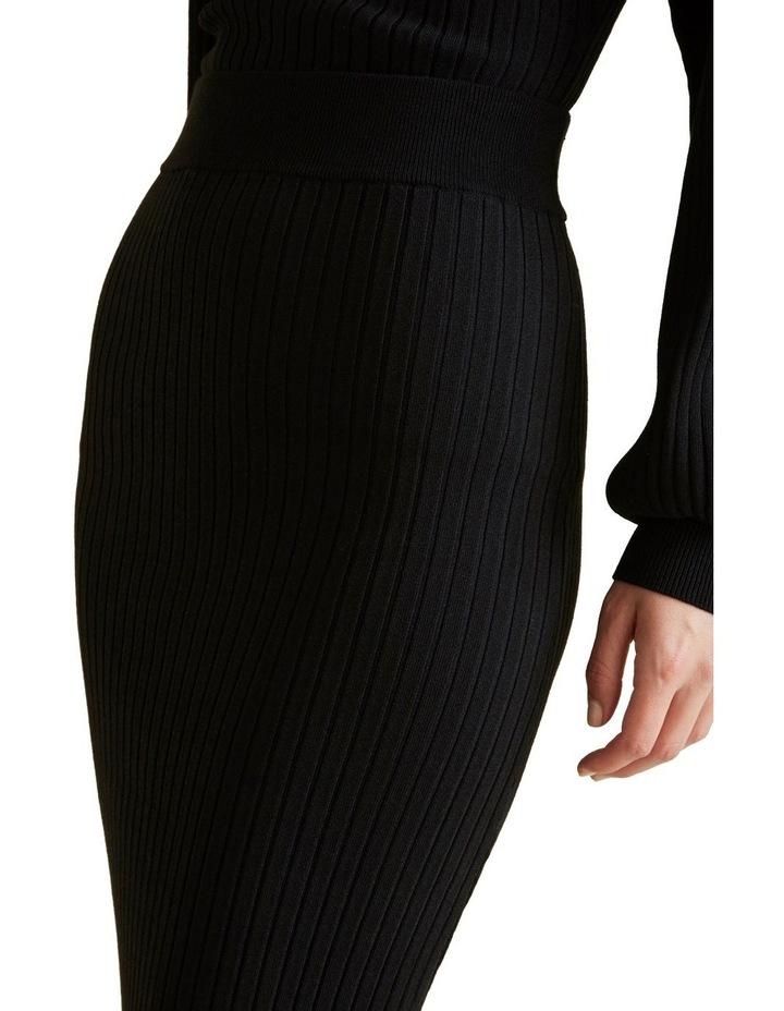 Ribbed Crepe Knit Skirt image 4