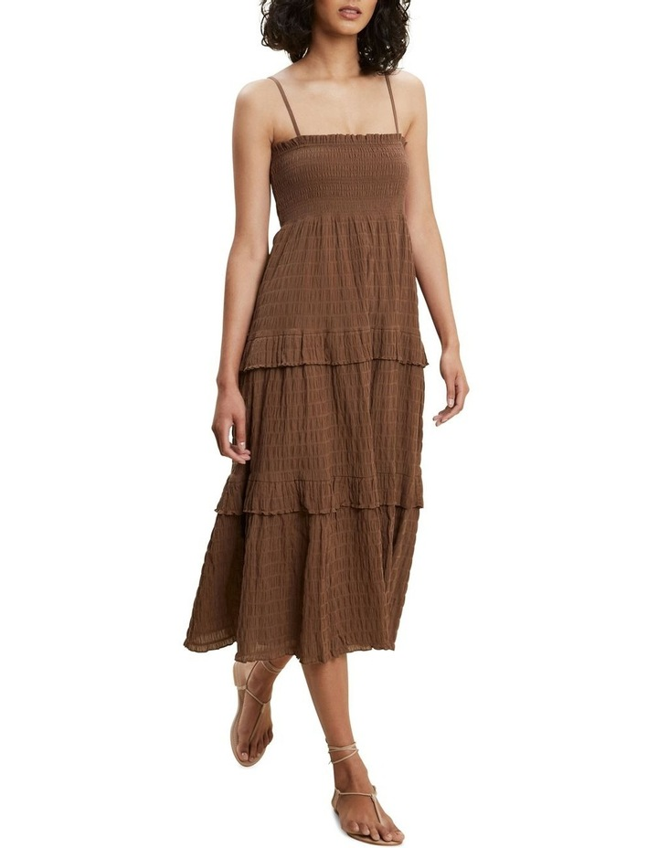 Textured Frill Midi Dress image 1