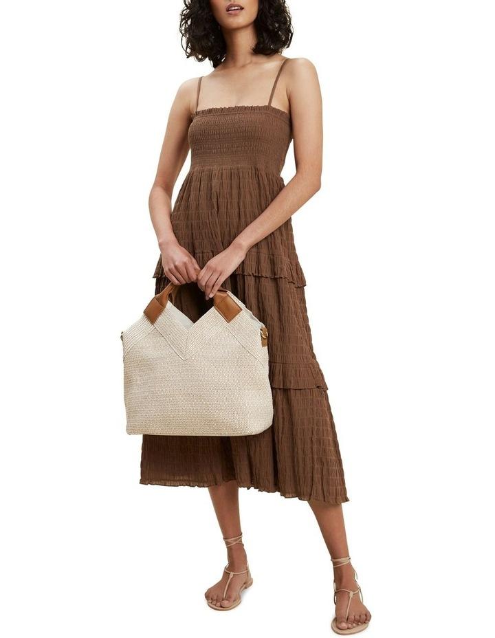 Textured Frill Midi Dress image 2