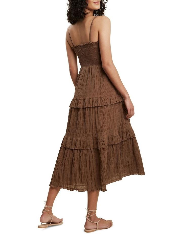 Textured Frill Midi Dress image 3