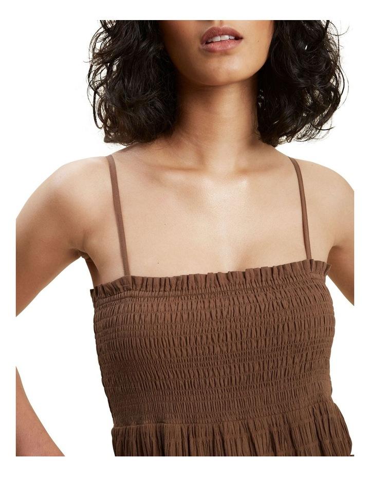 Textured Frill Midi Dress image 4