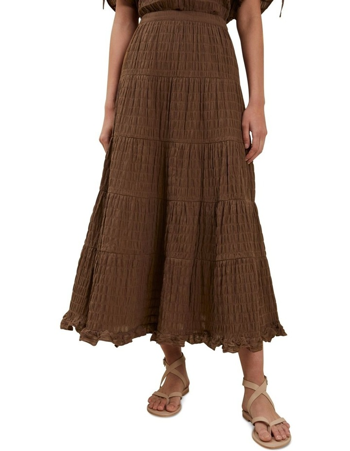 Textured Tiered Maxi Skirt image 1
