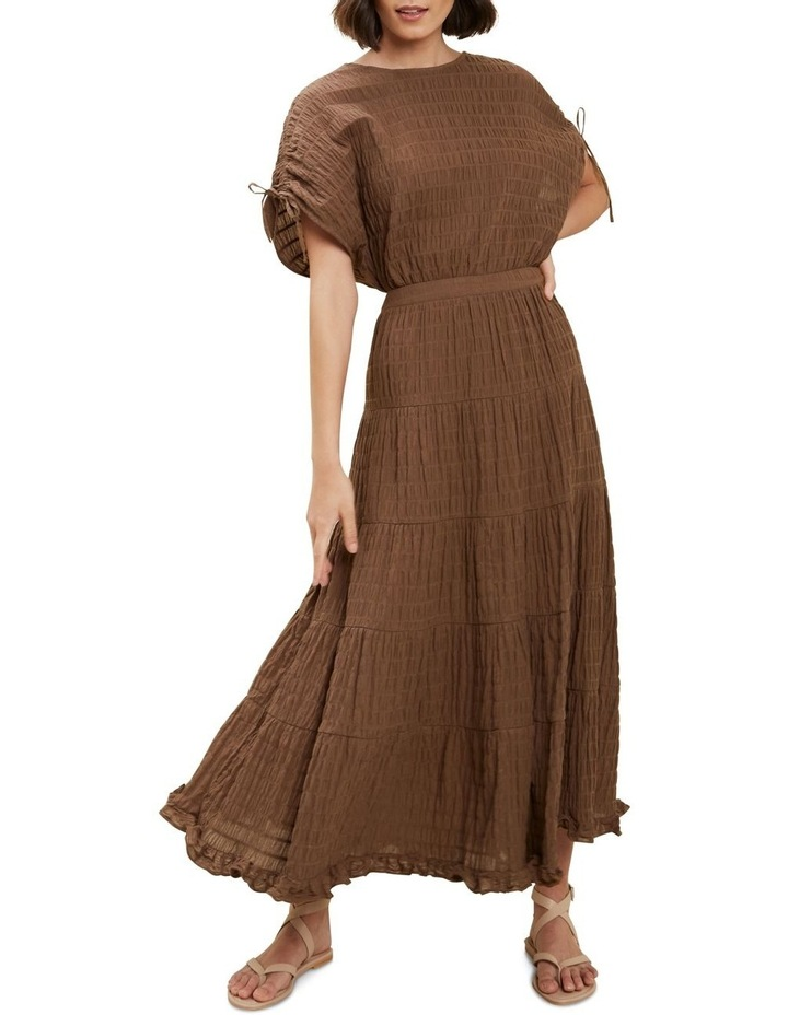 Textured Tiered Maxi Skirt image 2