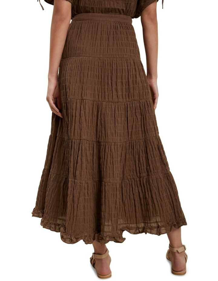 Textured Tiered Maxi Skirt image 3